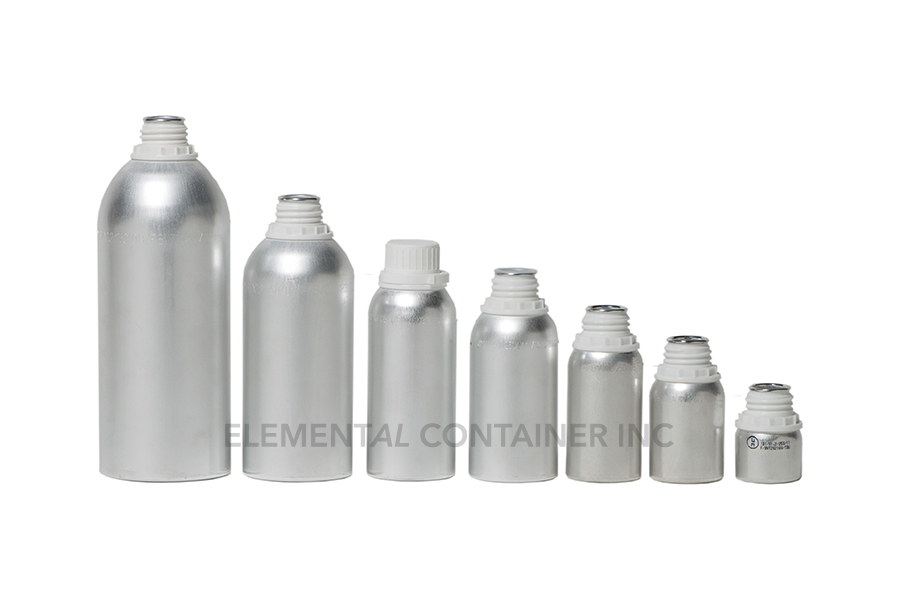 Elemental Container Active Ingredient Aluminum Bottles