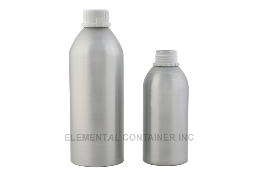 Brushed Aluminum Bottles With Tamper Evident Cap.